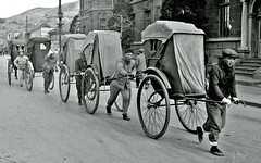 Korean Rickshaws (dok1) Tags: korea seoul rickshaws 1945 seoulkorea dok1