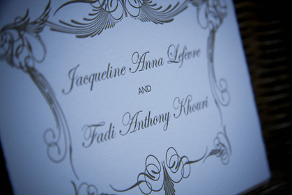 """Luxe Expressions Letterpress Wedding """"flowers in france"""" Bellyband"""