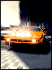 Modern Art (van heland) Tags: light orange sports car bar m1 german bmw headlight supercar dealer singen scheinwerfer 1car bcar