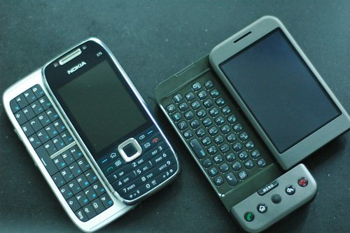Nokia E75 and Google G1