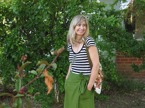 home sewn wrap skirt