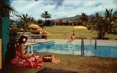 Hotel Hana-Maui Poolside (Kamaaina56) Tags: hawaii hotel postcard maui hana 1950s