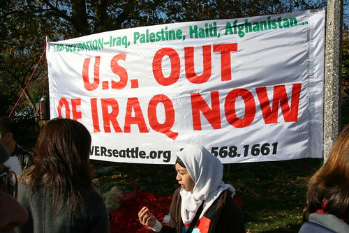 October 2007 Seattle Protest - U.S. Out of Iraq
