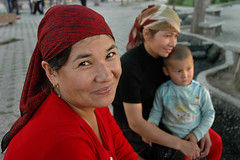 Uighur Woman (Rafal Bergman) Tags: china portrait people woman lady women child muslim uighur xinjiang urumqi urumchi mywinners wulumuchi
