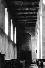 Fischbeck - Damenstiftskirche d 1974 (Arnim Schulz) Tags: church germany deutschland roman iglesia kirche chiesa alemania romanesque allemagne église germania niedersachsen románico romanisch romanik fischbeck damenstiftskirche