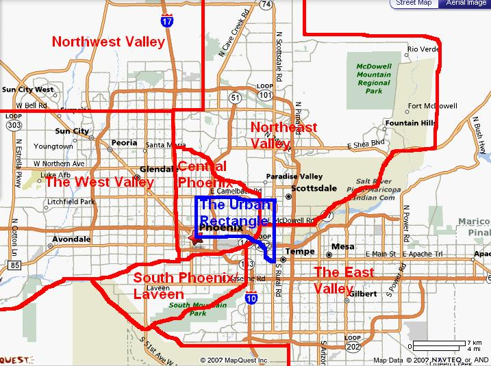 Map Of West Phoenix Az Pictures to Pin on Pinterest PinsDaddy