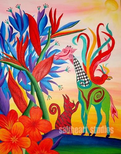 Dream Weaver  (16 X 20 acrylic on canvas)