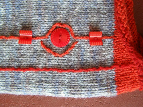 geometric earflap hat - embellishment