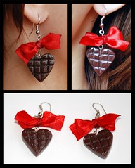 Choko Gift (l_a_n_d_l) Tags: handmade earring fimo earrings bijouterie polimerclay