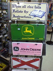 Matching his-and-hers John Deere license plates