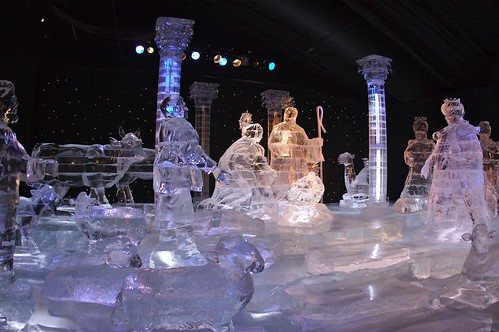 Ice Sculpture Nativity Scene