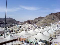 Mina tent city (Arabian Eagle) Tags: city mobile islam religion eid tent mina saudiarabia adha hajj     ibraham