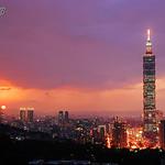 2_1763_101Building, Taipei, Taiwan 台北101大樓-城市-都會區-夕陽-台北101-101大樓-台北市-黃昏-夜景