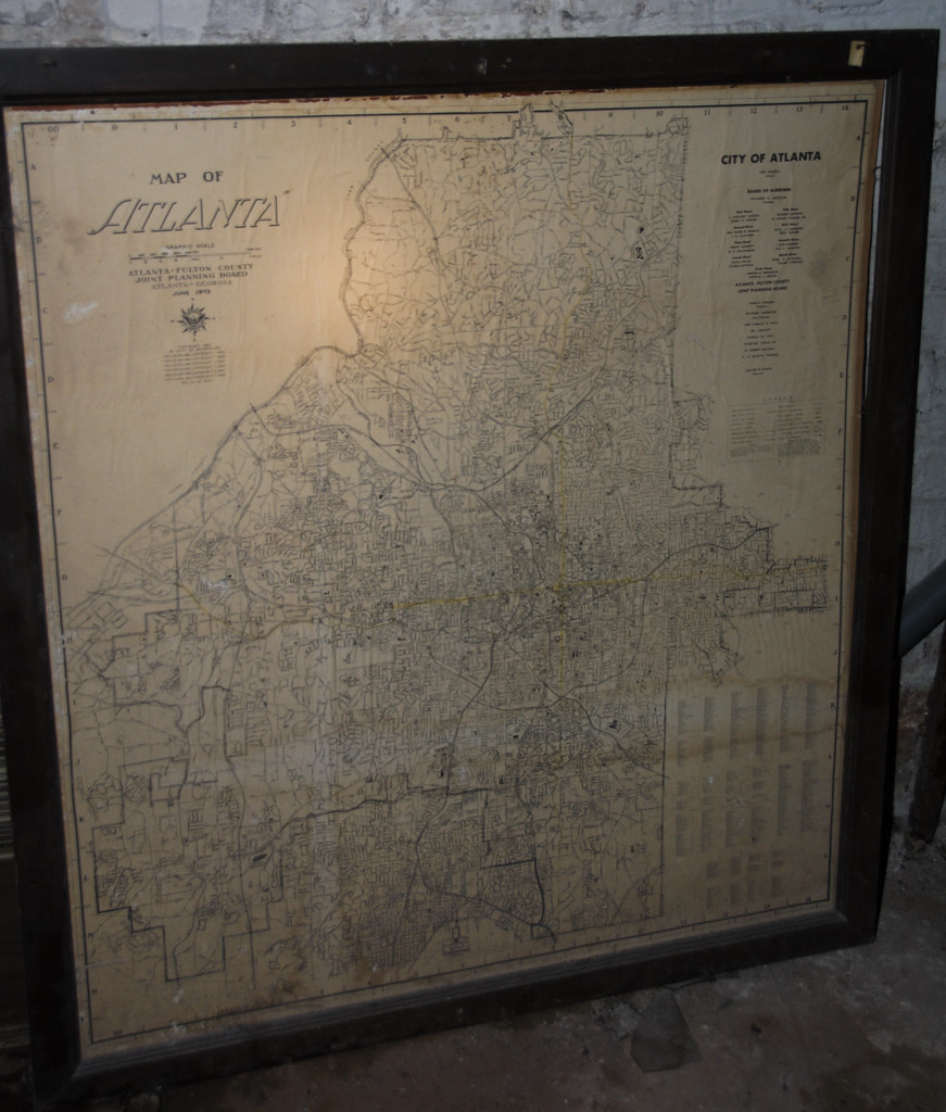 June 1973 Atlanta Map