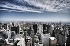 Top Of The Rock #05, NYC (braesikalla) Tags: city nyc newyorkcity travel blue roof sky people urban usa newyork tourism horizontal skyline architecture clouds skyscraper outdoors photography day cityscape centralpark manhattan rockefellercenter tourist midtown newyorkstate gothamist birdseyeview hdr topoftherock observationpoint 10mm traveldestinations famousplace buildingexterior largegroupofpeople highangleview downtowndistrict braesikalla totr observationdesk