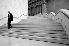 In the museum (Pawel Boguslawski) Tags: uk bw man london museum stairs canon british 400d