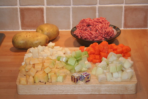 Lancashire Hot Pot - Vegetables Chopped