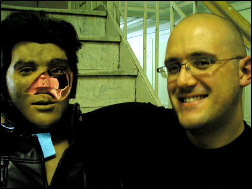 Self-Portrait with Zombie Elvis Karaoke-bot 2