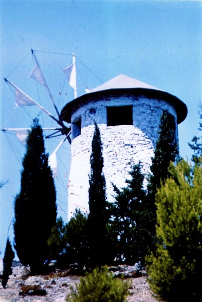 Windmill on Poros 1972