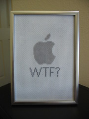 Apple WTF (thewindytree) Tags: apple crossstitch stitch wtf crafty subversive
