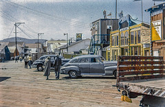 Fisherman's Wharf Monterey in 1949 (Lance & Cromwell back from a Road Trip) Tags: california monterey 1940s montereycounty centralcoast 1949 fishermenswharf montereypeninsula