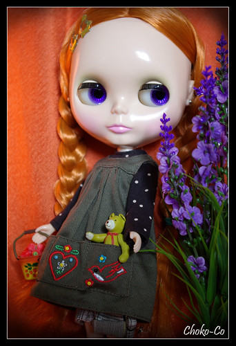 Zoé-Rose with her little Teddy by Choko-Co.