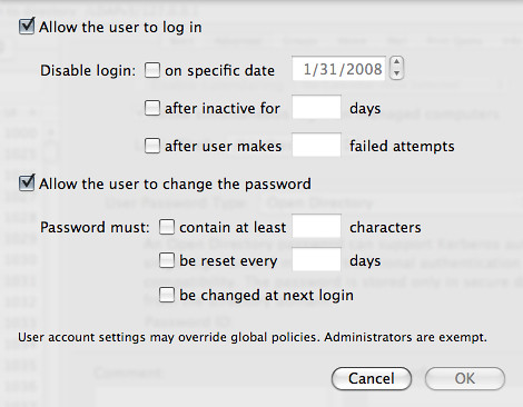 WGM: Password Options