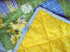 April Cornell Sunshine Quilt Binding and Back