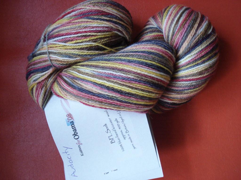 Audacity sock yarn for Obama