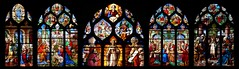All the principal stained glass of the church of Saint Etienne Fecamp, Normandy, France (MAMJODH) Tags: france art church europe christ faith jesus stainedglass chiesa foi normandie normandy kerk eglise fede vetrata saintetienne christendom ges fcamp chrtient