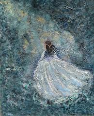 *BALLERINA* (LANCERIKA) Tags: light abstract france texture girl childhood ballerina wind originalpainting fineart dream surreal fairy fantasy 17th whimsical acryliconcanvas lancerika