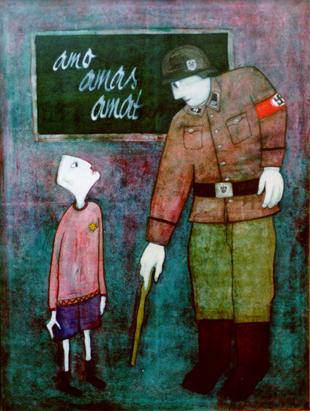 an Auschwitz gas chamber: