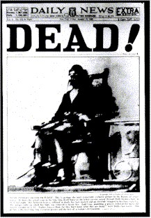 Ruth Synder Dead! Daily News cover