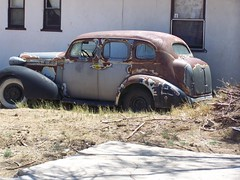 Memorial Day.2008,Old Car By A House In Mojave,Ca (Frank The Prospector) Tags: mojave
