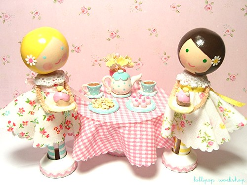 tea for two and cupcakes, too! by be cheery.