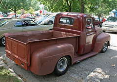 1948 Ford F-1 Pickup Truck (3 of 4) (myoldpostcards) Tags: classic ford 1948 truck project illinois bed tail pickup f1 il celebration anderson tailgate vehicle weathered restoration trucks annual oldtruck carshow laborday owner crusaders cla