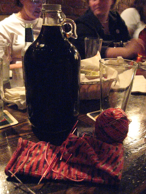 saff, friday night: still life with school spirit sock and jug of porter