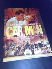 Front Cover of Car Man programme for Edinburgh Festval Theatre run