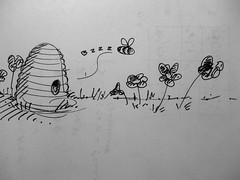 I wrote a game about a bee and flowers today