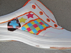 Painted Shoes, Step three, Stencilling stars