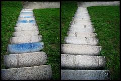 Not Quite, But (pni) Tags: grass germany deutschland diptych europe steps trier eurooppa skrubu pni manandenvironment pekkanikrus ger07