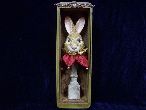 vintage bunny display