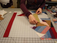 making the crazy quilt