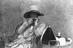 1920's, Nell Bronger, smoking (doc(q)man) Tags: old family 1920s portrait blackandwhite bw woman hat grandmother tea relative twenties nellbronger