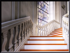 Stairway (Wolfgang Staudt) Tags: treppe stufen stairs stairway interior kanzel altar christbaum christmastree stuck sulen ludwigskirche saarbrcken saarland germany europa autumn fall colour building nikon nikond70 wolfgangstaudt saturday sigma tripod hdr orton sky clouds sun sunshine decay amazing beautiful trees leaves reflection nice nicecolors early earlymorning morning frame framed red blue stunning art goldstaraward saar sarre sarrebrck saarlorlux naturesfinest abigfave amazingtalent ludwigsplatz friedrichjoachimstengel altsaarbrcken