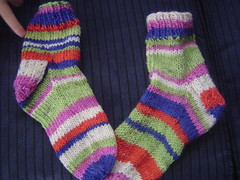 My first pair of knitted socks