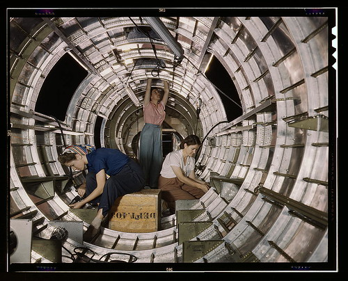 Library of Congress Image picturing Women Workers on an Airplane