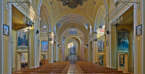 Saint Mary of the Barrens Roman Catholic Church, in Perryville, Missouri, USA - nave