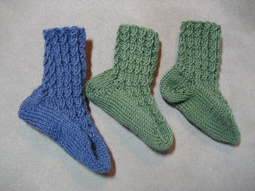 Cable Rib Baby Socks