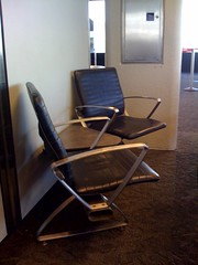 Chairs at an angle, SFO